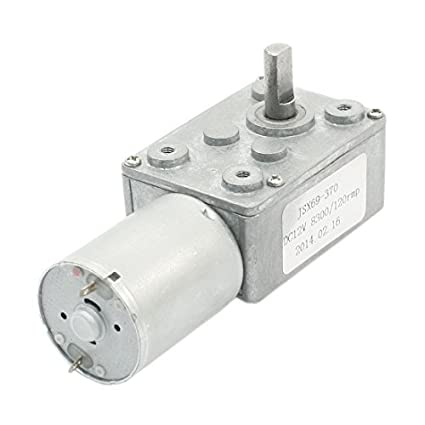 4,5 mm D Eje Relación de reducción 8300RPM / 120 rpm DC 12V Worm
