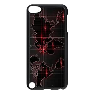 Custom World Map Apple Ipod Touch 5th Hard Case Cover phone Cases Covers