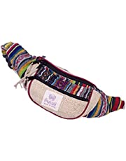 PUTALI LTD | Woven Hemp Fanny Pack for Men and Women | Adjustable Waist and Secure Pockets | Travel Bag or Running Gear