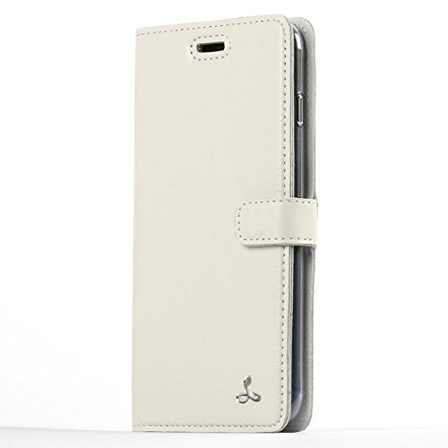Snakehive Apple iPhone 8 Plus Premium Pastel Leather Case with Credit Card/Note Slot for Apple iPhone 8 Plus from The Pastel Collection (Porcelain)