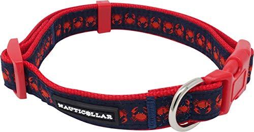 Nauticollar Nautical Crab Nylon Ribbon Collar (Large)
