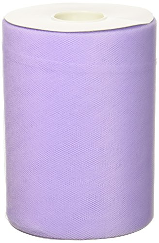 (BBCrafts Lavender Polyester Tulle Roll 6 inch 100 Yards)