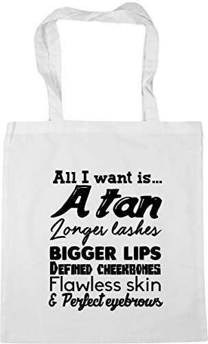 All defined perfect lashes HippoWarehouse 10 litres 42cm Beach eyebrows Shopping bigger Bag want I is A tan lips Gym flawless longer cheekbones Tote skin White x38cm and fqRZwvdqr
