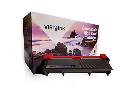 Vista Ink Compatible Brother TN660 TN630 High Yield Toner Powder Cartridge - 2,600 Page Yield Black Toner Replacement for Brother Printers - Ideal for Black and White Printing - 1 Pack