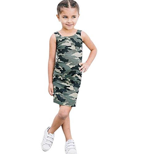 Gypsy Girl Outfits (Camouflage Party Dress ,BeautyVan New Cute Cartoon Toddler Girl Sleeveless Camouflage Party Princess Pageant Dress (6T, Camouflage))