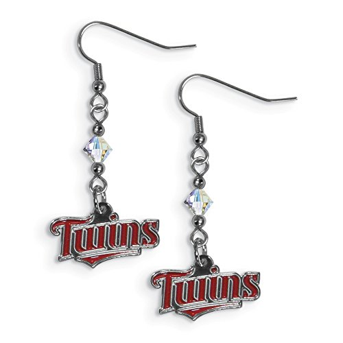 Gifts Licensed Gifts MLB Siskiyou Buckle Minnesota Twins Crystal Dangle - Minnesota Twins Cufflinks