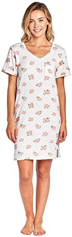 Casual Nights Women's Poly Short Sleeve Sleepwear Dorm Night