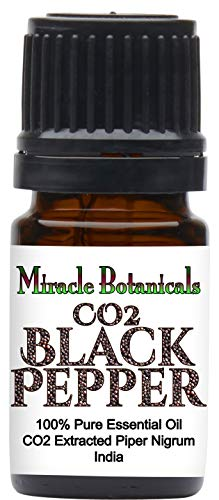 Miracle Botanicals CO2 Extracted Black Pepper Essential Oil - 100% Pure Aquilaria Crassna - 5ml, 10ml, or 30ml Sizes - Therapeutic Grade - 5ml