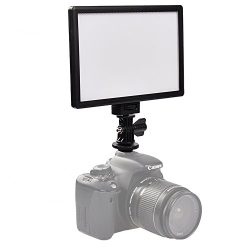 SUPON LED-L122T RA CRI95 Super Slim LCD Display Lighting Panel,Portable Dimmable 3300K-5600K LED Video Light Compatible Canon,Nikon,Pentax,Fuji,Sony,Olympus DSLR Cameras,DV Camcorder -(LED-L122) by SUPON