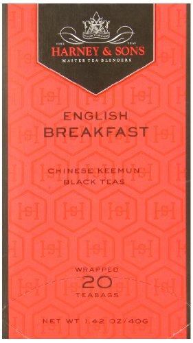 (Harney & Sons Fine Teas English Breakfast - 20 Tea Bags - Net Wt. 1.42 oz)