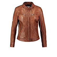 Leather Hubb Women's New Zealand Lambskin Brown Stylish Jacket/ Blazer Brown Berry