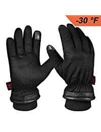 OZERO Waterproof Winter Gloves for Driving, Motorcycle,Warm Gift in Cold Weather