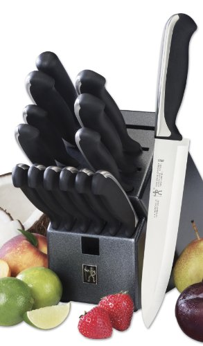 J.A. HENCKELS INTERNATIONAL Fine Edge Synergy 15-pc Knife Block Set (Knife Block Dishwasher Safe)