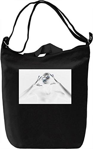White Woman Borsa Giornaliera Canvas Canvas Day Bag| 100% Premium Cotton Canvas| DTG Printing|