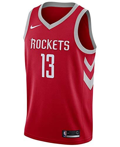 NIKE Men's Houston Rockets James Harden Red Swingman Jersey Icon Edition Size XL
