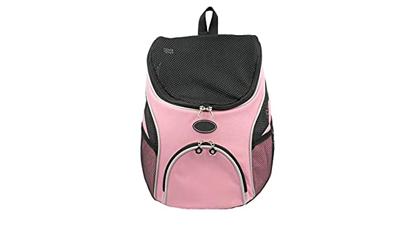 X/&MM Bolso del Recorrido del Perro Mascota Bolsa Bolsa Gato Bolsa port/átil Mascota Volver Perro del Gato Bolsa de Bolsas de Malla Apertura Superior Rosa