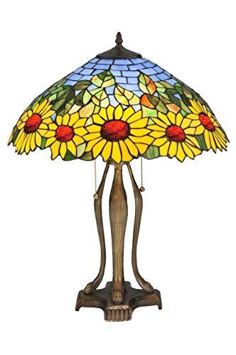 Meyda Tiffany 119682 Wild Sunflower Table Lamp in Copperfoil finish