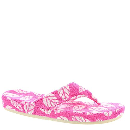 Acorn Women's Summerweight Spa Cotton Thong Azalea Leaf - Womens Acorn Slippers Size 6
