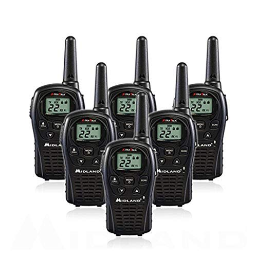 6-Pack Midland LXT500VP3 Two Way Radio, Rechargeable Batteries and Chargers