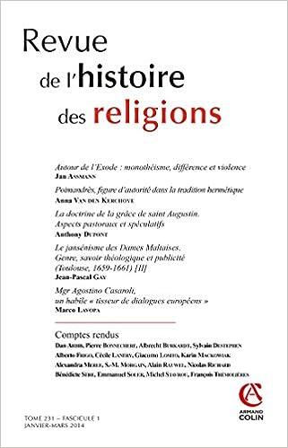 Lire en ligne Revue de l'histoire des religions - Tome 231 (1/2014) Varia epub, pdf
