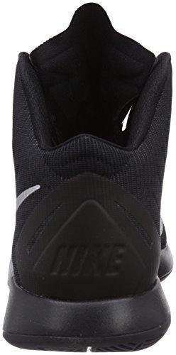 Nike Lunar Hyperquickness Herren Basketballschuhe Schwarz (nero / Argento Metallizzato)