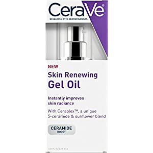CeraVe Skin Renewing Gel Oil 1 oz Facial Moisturizer with Ceramides to Improve Skin Radiance