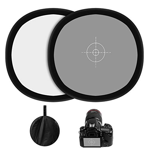 Sedremm Gray/White Balance Card,24x24Inch (60x60cm) Portable Focus Board Two Sides Double Face 18% Grey/White Balance Reference Card with Carry Pouch for Canon Nikon Sony by Sedremm (Image #6)