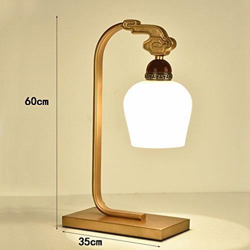 Mahogany Vintage Desk - Table lampXM ZfgG Gold Bracket Lamp, LED Retro Copper Mahogany Desk Lamp, Power Switch Button 60cm35cm