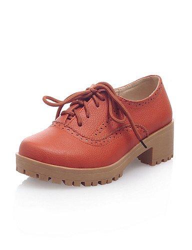 Robusto Uk6 Uk6 Yellow Cn40 Eu35 Redonda Orange sneakers us8 Eu39 Naranja tacón oficina A Zapatos semicuero Mujer Y Moda Hug Zq us5 Trabajo amarillo Casual punta Beige La 5 Cn34 Uk3 De 5 xRwSqpFFX