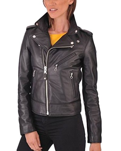 Donna Junction Giacca Donna Giacca Junction Leather Leather Nero 8qwRId