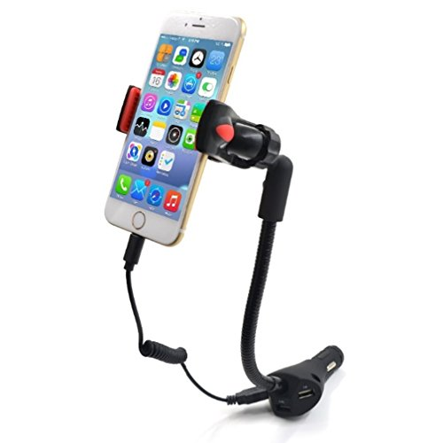 Car Phone Holder, Beepels Connect All Car Mount with 3 USB Ports 1.5A Car Charger, Car Smartphone Holder for iPhone 6S 6 5 5S 5C 4, Galaxy S7 S6 S5 S4, Quick Charging
