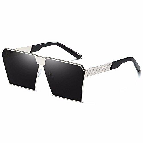 Moda Liuxc Sol Sol Demasiado Gafas de cuadradas Gafas para de Gafas Grande sol de Ocho Gafas Coloridas Caja Mujer de wZx4XrZvYq