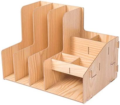 Ordner WDX- Filterhalter Aufbewahrungsbox für Schreibtisch aus Holz für Büro Datenablage Mehrschichtspeicher A