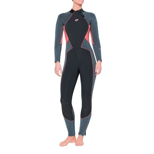 Bare Evoke 5mm Full Wetsuit (Coral, 08) (Bare Dive Suits)