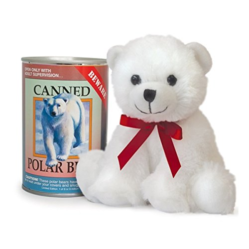 Canned Critters Stuffed Animal: Polar Bear 6 Inch ()