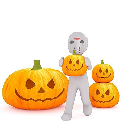 (Quality Prints - Laminated 24x24 Vibrant Durable Photo Poster - Halloween Creepy Shudder Pumpkin Spooky Figure Gloomy Weird Fear Ghost Scary 3D-Model 3D 3Dman EU White Male Males 3D Man)