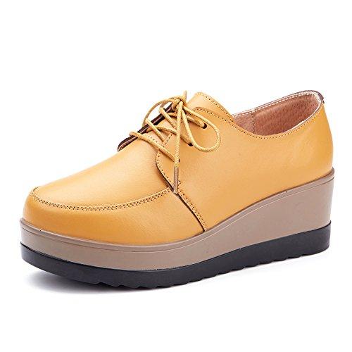 Zapatos de plataforma/Las mujeres zapatos de cuñas/Suelas suaves de Inglaterra B