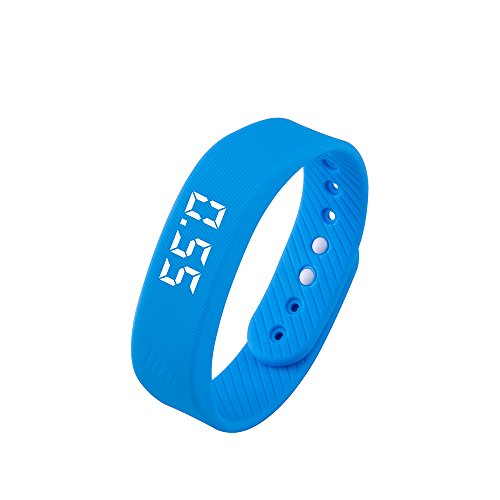 Smart Wristband,iGank T5 Sports Fitness Bracelet, No need to install app (blue)