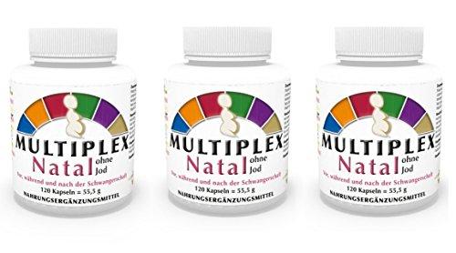 3er Pack Vita World Multivitamin Natal ohne Jod 360 Vegi Kapseln Apotheken Herstellung