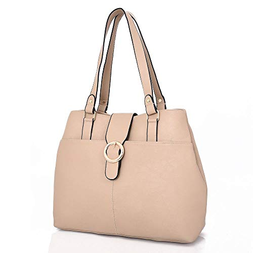 Bag Ladies Tote Beige Shoulder Womens Handbag Stylish BUwtvv