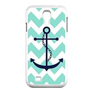 Personalized Aesthetic Samsung Galaxy S4 I9500 Hard Case Cover with Cute Colorful Stripe-Anchor Navy Case Perfect as Christmas gift(4)