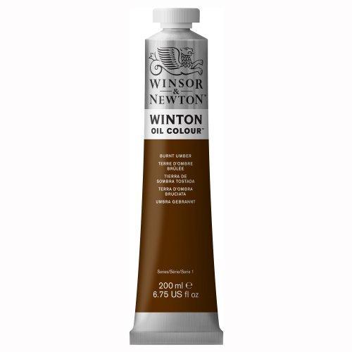 Winsor & Newton Winton Oil Paint Tube, 200ml, Burnt Umber by Winsor & Newton