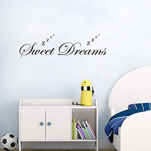 Wall Stickers Murals 76Cmx20.6Cm Lovely Sweet Dreams Sleeping Decal Children's Bedroom Decor PVC Wall Sticker