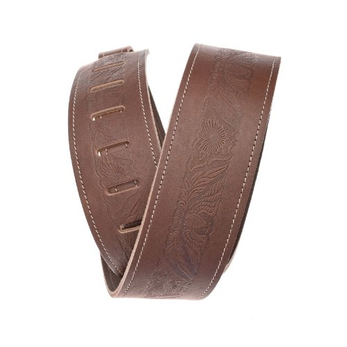 Eagles Embossed Leather (Planet Waves Embossed Western Eagle Leather Guitar Strap,)