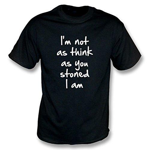 TshirtGrill Ich bin nicht wie denke, wie Sie mich sind T-Shirt entsteinten, Farbe- Schwarzes
