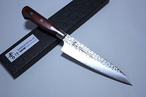 Sakai Takayuki Hammered Damascus 33 Layer Vg-10 Japanese Gyuto Chef Knife 180mm by Sakai Takayuki