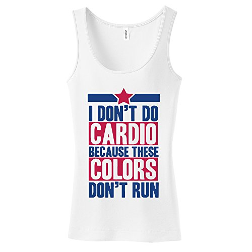 I Don't Do Cardio Because These Colors Don't Run Women's Tank Top 2XL White