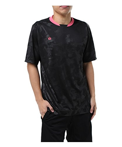 失望させる名前で石油アドミラル サッカーウェア 半袖シャツ 半袖プラクティスシャツ AD540403H02 BK S