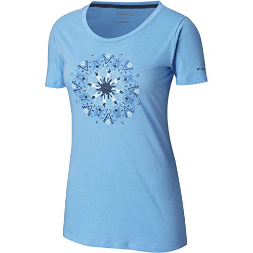 Columbia Women's Butterfly Wing Medallion Tee, White Cap Heather, X-Small