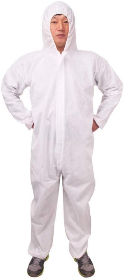 Capucha combinada desechable masculina y femenina ropa protectora ropa de trabajo impermeable a prueba de polvo a prueba de aceite granja no tejida XL protección prueba de polvo